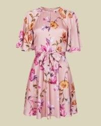 TED BAKER TONKAA Rhubarb mini tea dress ~ vintage look floral dresses