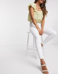 River Island Molly superstretch skinny jeans in white | summer skinnies