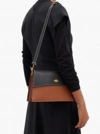 MÉTIER Roma small leather shoulder bag ~ colourblock handbags
