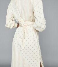 REISS ROMI PRINTED MIDI DRESS IVORY ~ multi print dresses ~ tie waist detail