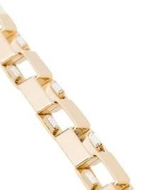 Rosantica gold-tone square-link bracelet / contemporary crystal bracelets
