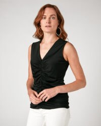 JIGSAW RUCHED TANK / essential black sleeveless tops / wardrobe style essentials