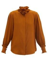 VICTORIA BECKHAM Ruffled silk blouse ~ frill detail blouses