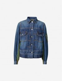 SACAI Contrast-panel denim jacket