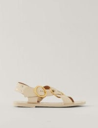 JOSEPH Gaya Leather Sandal / luxe criss-cross flat sandals