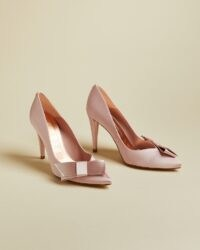 TED BAKER ZAFIA Satin bow detail court shoes ~ luxe courts