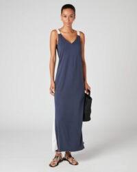 JIGSAW SATIN MIX JERSEY MAXI DRESS / effortless elegance