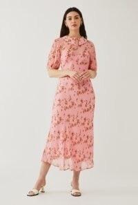 GHOST SESAME DRESS Betti Brushed Roses / pink vintage look dresses