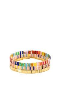 SHASHI Tilu Bracelet Set Rainbow Multi