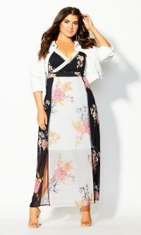 Beloved Bloom Maxi Dress – black – City Chic