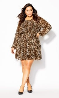 Cute Animal Dress – ochre – Super trending & super cute, this versatile piece can be worn as a mini dress with ankle boots & a statement coat or a tunic with opaque tights & a longline cardi. Wear it however you like, just own it! Key Features Include: – Round neckline – Ruffle chest detail – Long sleeves with elasticated cuff – Relaxed fit, shift style – Removable self tie waist belt – Lightweight chiffon lined fabrication – Short hemline