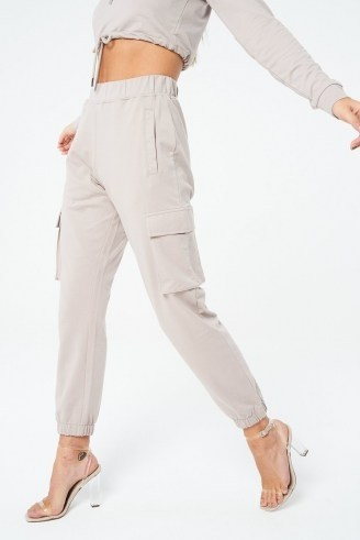 The Couture Club SIGNATURE RUCHED 90S CARGO JOGGERS ~ cuffed jogging bottoms - flipped