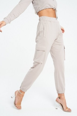 The Couture Club SIGNATURE RUCHED 90S CARGO JOGGERS ~ cuffed jogging bottoms