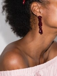 Simone Rocha Red Blood crystal drop earrings