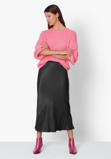 hush Simone Slinky Skirt Black / wardrobe essential - flipped