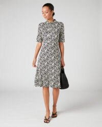 JIGSAW SKETCH GEO JERSEY SHIRT DRESS / chic retro dresses
