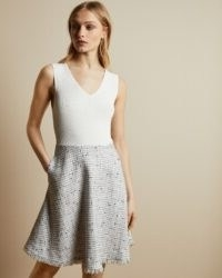 TED BAKER ADALAD Sleeveless V neck dress