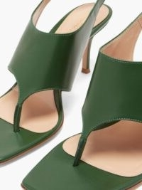 GIANVITO ROSSI Slingback 70 square-toe green-leather sandals