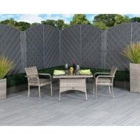 Rattan Garden Furniture – Estes 2 Seater Bistro Set with Cushions