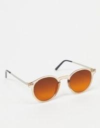 Spitfire British Summer round sunglasses in orange