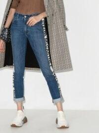 Stella McCartney Logo Sides Cropped Eco Jeans