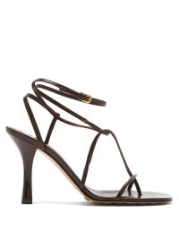 BOTTEGA VENETA Stretch square-toe leather sandals