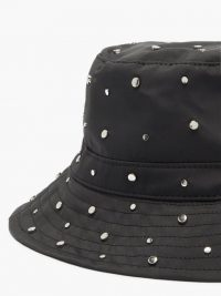 GANNI Studded recycled-shell bucket hat / stud embellished hats