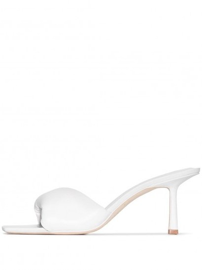 white padded square toe mule ~ Studio Amelia 3.33 75mm mules - flipped
