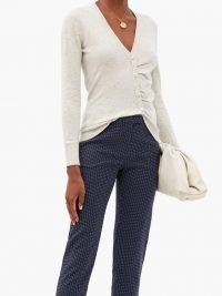 ALTUZARRA Takara speckled-cashmere cardigan ~ asymmetrical knitwear