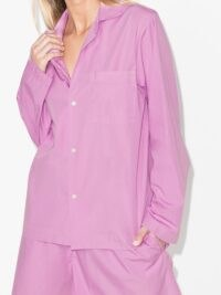 TEKLA long-sleeve organic cotton pyjama shirt