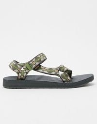 Teva original universal sandals in green canyon print