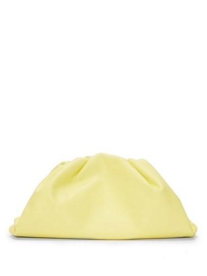 BOTTEGA VENETA The Pouch large yellow-leather clutch bag - flipped