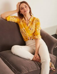 Boden The Silk Shirt – Tuscan Sun, Garden Dream / bird and flower prints