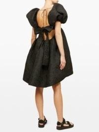 CECILIE BAHNSEN Tilde tie-back floral-embroidered taffeta dress ~ beautiful back detail dresses ~ voluminous clothing