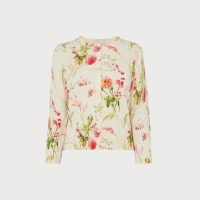 L.K. BENNETT TISSIE ROSEAU FLORAL PRINT CARDIGAN / feminine cardigans