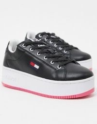 Tommy Jeans iconic flatform trainers in black | flatforms | chunky trainer | thick sole sneakers