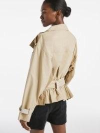 FRAME Tonal Blocked Jacket Khaki Multi | trench style jackets