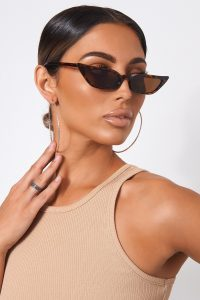 The Fashion Bible TORTOISESHELL SQUARE CAT EYE SUNGLASSES