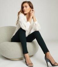 REISS TYNE SKINNY TROUSERS DARK GREEN / essential addition to any stylish wardrobe
