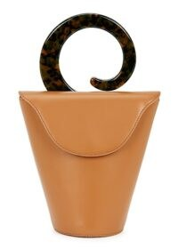 USISI Consti brown leather top handle bag | small bags