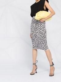 Versace leopard knit pencil skirt / glamorous prints