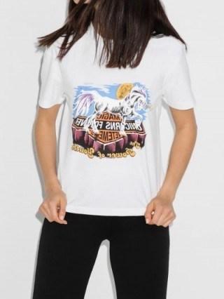 Vetements Unicorn Print Cotton T-Shirt - flipped
