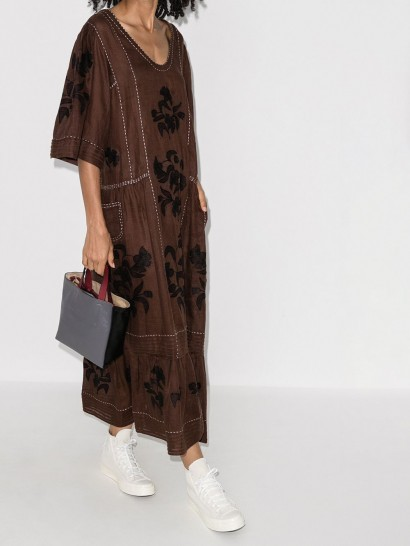 Vita Kin Carnation kaftan dress ~ floral frill hem dresses