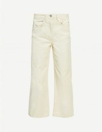 WON HUNDRED Kiri straight-leg mid-rise jeans in putty