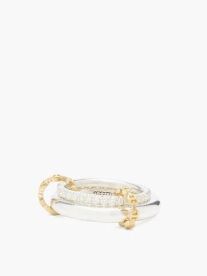 SPINELLI KILCOLLIN X Hoorsenbuhs Virgo diamond & sterling silver ring / luxe double band rings - flipped