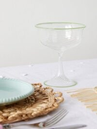 CAMPBELL-REY X Laguna B set of two Cosima coupes ~ handcrafted glass ~ swirl champagne coupe glasses
