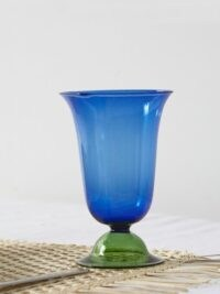 CAMPBELL-REY X Laguna B set of two Cosimo highball glasses ~ blue and green Italian glassware ~ coloured table glass