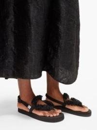 CECILIE BAHNSEN X Suicoke Kat flower-beaded sandals ~ pretty bead embellished flats