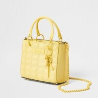 River Island Yellow mini tote cross body bag | small summer top handle bags | crossbody style