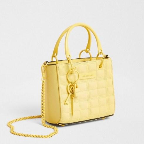 River Island Yellow mini tote cross body bag   small summer top handle bags   crossbody style - flipped